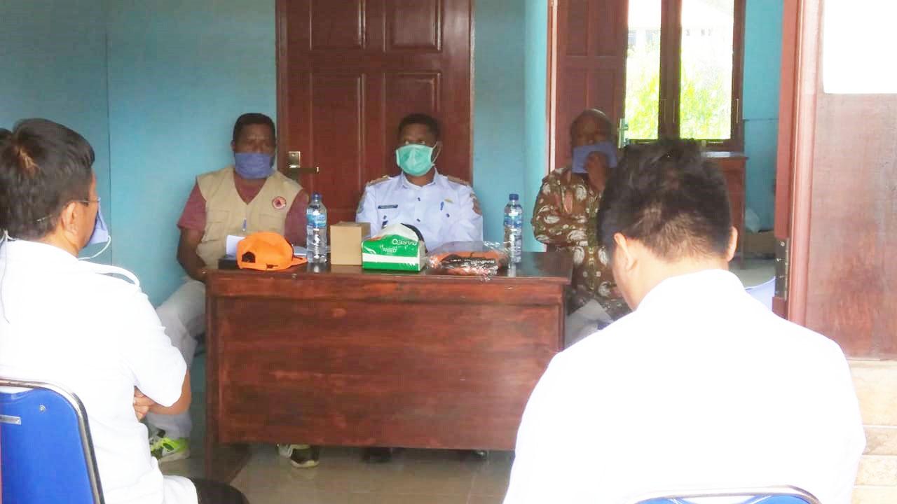 Rapat Evalusi Upaya Pencegahan dan Penyebaran Covid-19 di Wilayah Kabupaten Pegaf