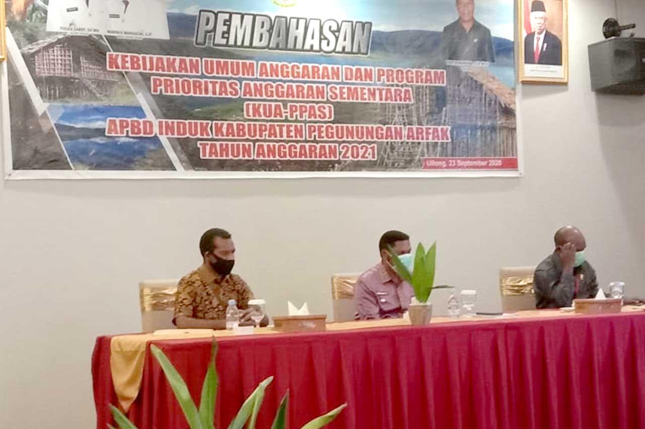 KUA-PPAS APBD 2021 Kabupaten Pegunungan Arfak Mulai Dibahas