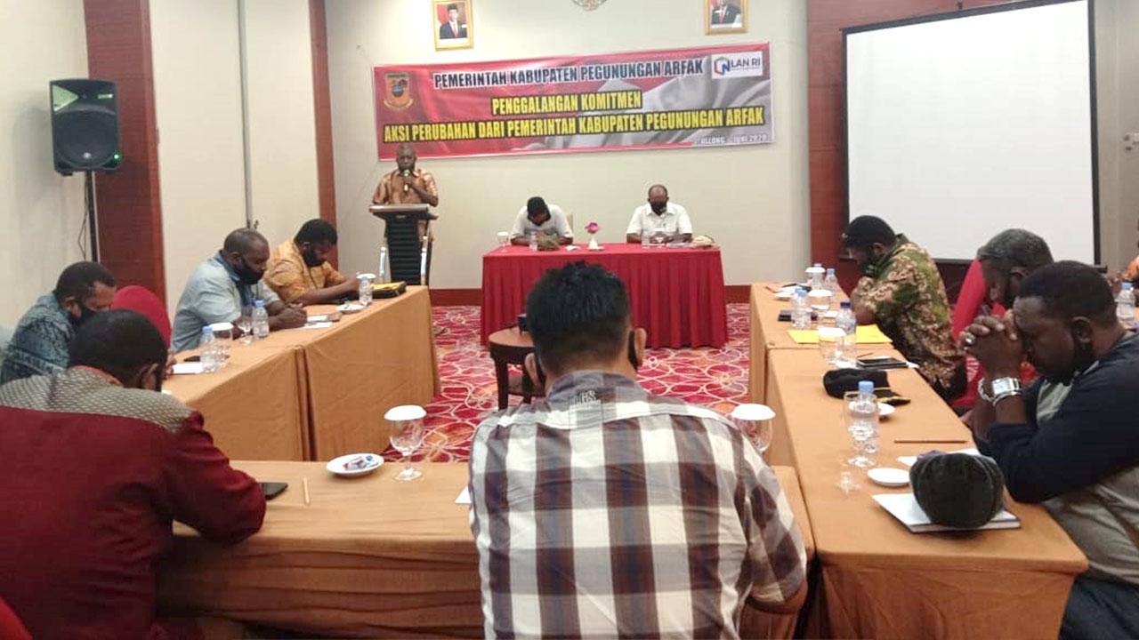 Bupati Pegaf Dukung Rencana Aksi Perubahan Kinerja Peserta Diklatpim III